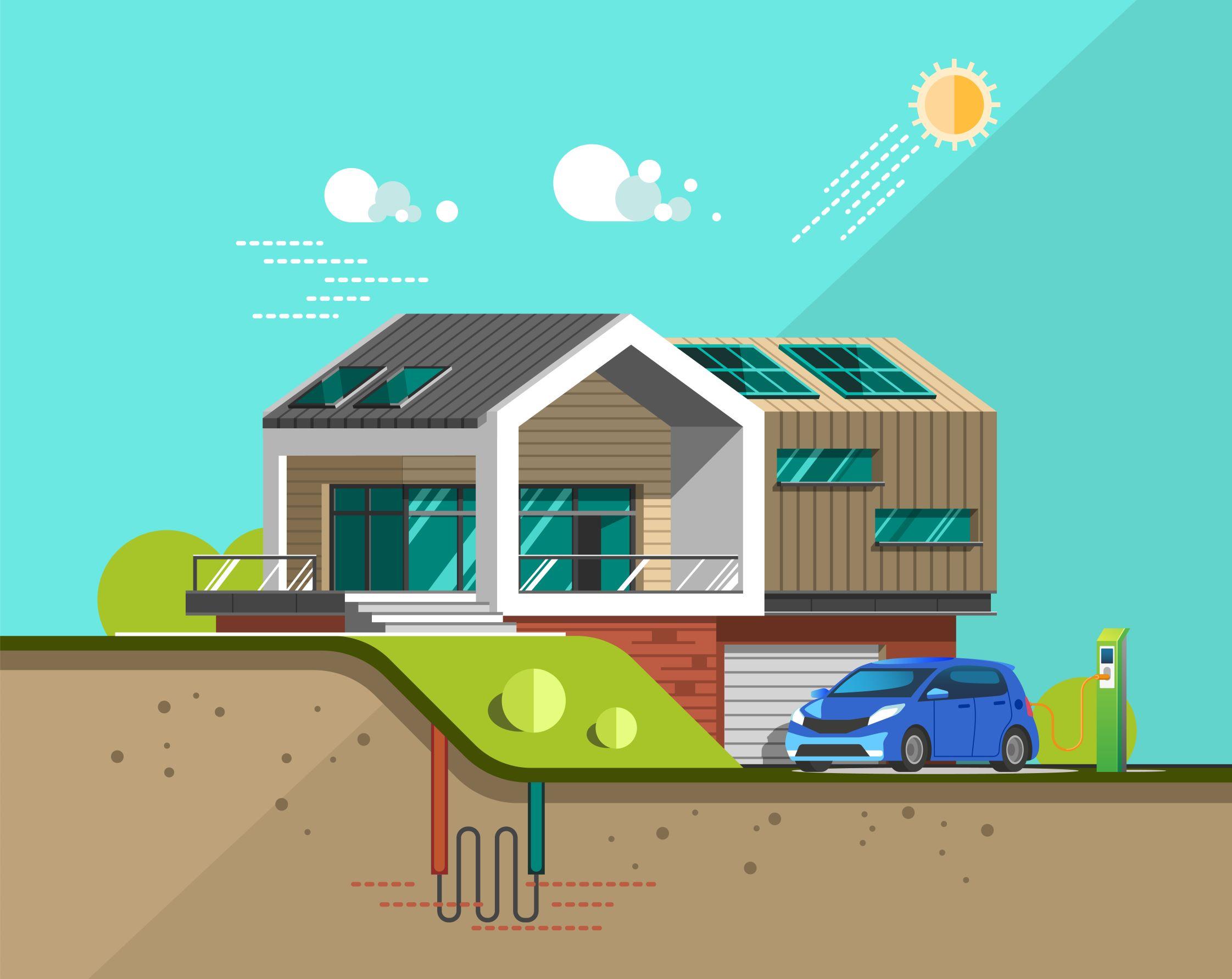 ¿Qué son las Viviendas Geo Solares de carbono positivo?