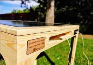 Muebles sostenibles hechos en España y con placas solares integradas
