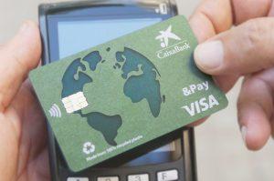 Tarjeta de crédito con plástico 100% reciclado