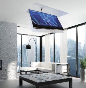 Elevador de TV de techo motorizado
