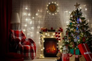 Navidad con luces solares
