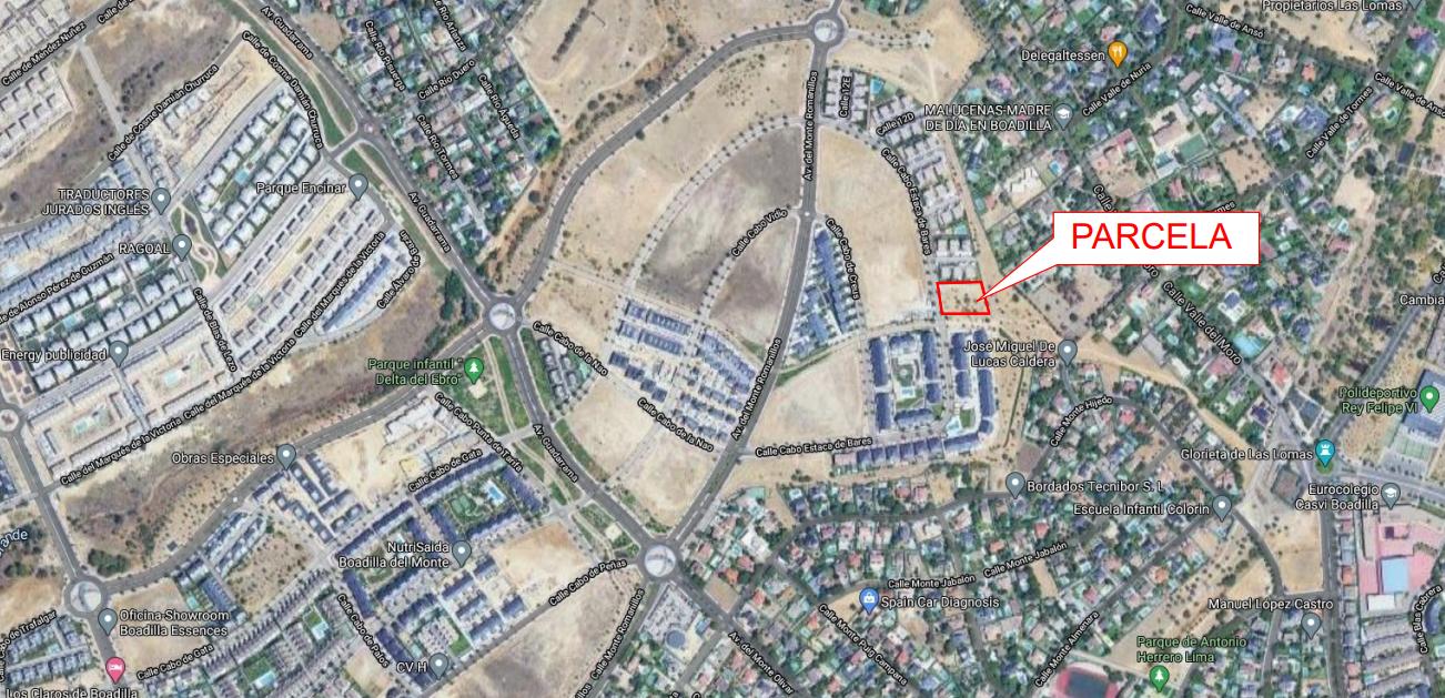 Planos y ubicación de la nueva parcela de Boadilla