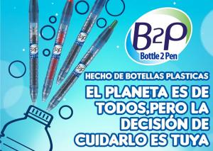 De botella de plástico a bolígrafo