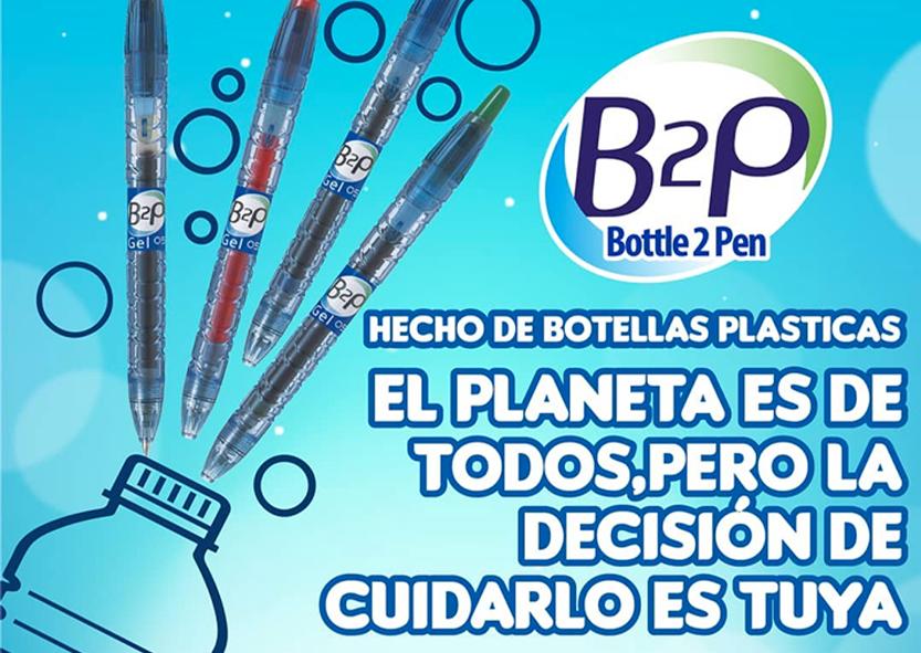 Pilots boligrafos botella reciclados