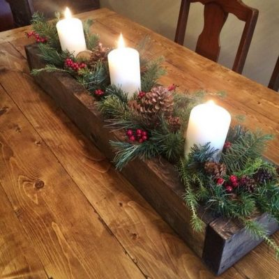 centros-de-mesas-navidenos-con-velas